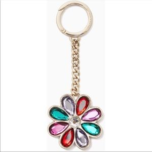 Kate Spade NWT Multi-Color Gem Flower Purse Charm